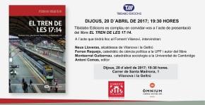 """Presentació del llibre """"El tren de les 17:14"""" de FerranRequejo"""