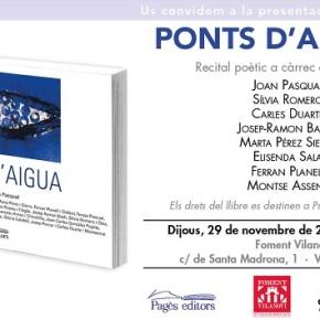"""Presentació del llibre """"Ponts d'aigua"""""""